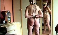 Bizarre BDSM training for 55 years Granny