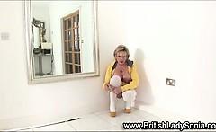 Stockinged solo hot mature fetish brit