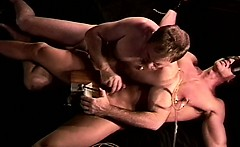 CBT I crush my young,hot,restrained, blindfolded muscle
