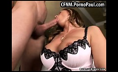 Hot milf makes a guy strip off
