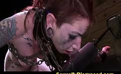 Tattoed Sheena Rose rough sex and orgasm denial punishment