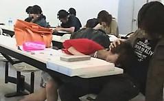 Schoolgirl groped in the classroom