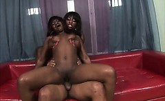 Two Black Girls Taking Cumshot On Their Massive Asses