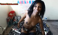 Petite Ebony Amatuer With A Puffy Pussy