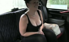Horny amateur tit fucked and banged hard with nympho driver