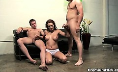 monica mayhem making great double handjob and gets massive