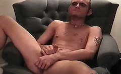 Very hot and sexy blonde twinks is alone in his room and he