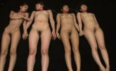 Hot asian bondage girls get felt up