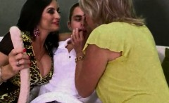 two hot matures teasing younger guy