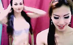 Shemale Couple Sucks Cock