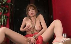 Solo asian teen fisting and playing with her dildo