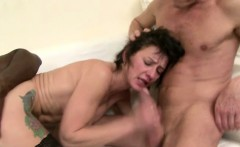 mature whore fucks two