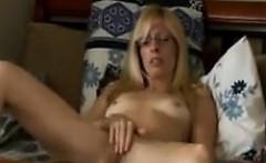 Blonde MILF Masturbating