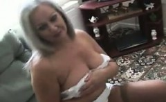 Fat Granny Teasing Her Body