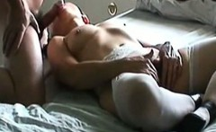 Hot wife doing a blowjob in the bed
