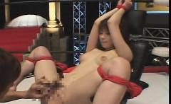 Subtitled Japanese AV spread and bound for fingering