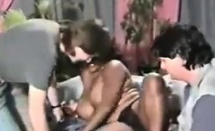 Busty Ebony Chick In A Threesome