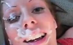 Pregnant Slut Gets A Facial
