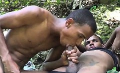 Cute skinny-dipper blowing his sergeant