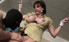Lady Sonia gets fingered while tied up