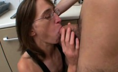 French mature Chloe fucked in the kitchen