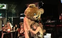 Woman Bonks A Stripper
