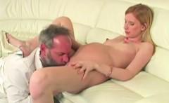 Dirty Old Perv With Preggo Blonde