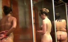 amateur girls spied on in public shower