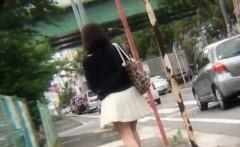 Asian Pee Slut Urinates On The Street