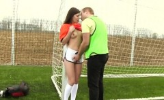 Dutch football player drilled by photographer