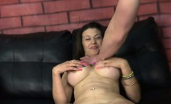 Busty Mom Fucks Huge Dick With Her Throat