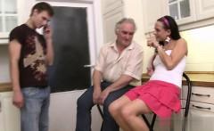 Horny daughter cum kiss