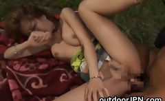 Kane Hotaru Asian model enjoys outdoor