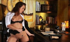 Sexy secretary Maddy fucked on the table