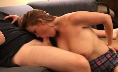 Facial cumshot on big tit all natural amateur