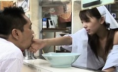 Subtitled Japanese ramen shop with topless employee