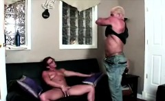 Muscled MILF shows her body