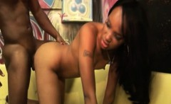 Sexy black stripper from the hood fucked