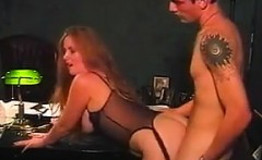Redhead Has Sex With The Boss In His Office