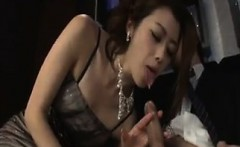 Asian Babe Sucking On A Cock At The Club