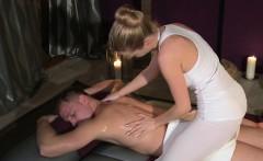 Blonde masseuse giving nuru massage and fucking