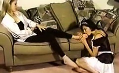 Cleaning Lady Worships A Babes Feet