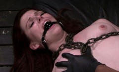 FetishNetwork Emma Evins rough bondage sex and facial