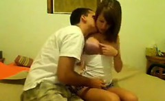 Horny Teen Couple Having Sex At Home