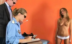 Super hot sexy blonde getting strip searched
