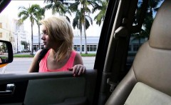 Amateur teen Dakota Skye gives head and nailed in the car