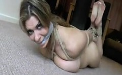 Busty Slut From Britain Being Tied Up