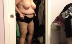 watching my big wife getting dressed