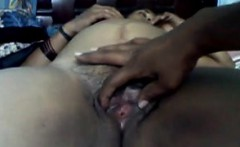 Hairy Indian Aunty Pussy Being Played With
