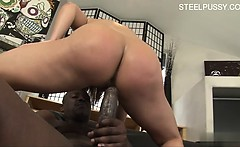 Sexy Hausfrau teaching blowjob
